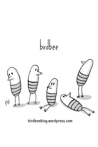 birdbee iPod/iPhone wallpaper in black and white