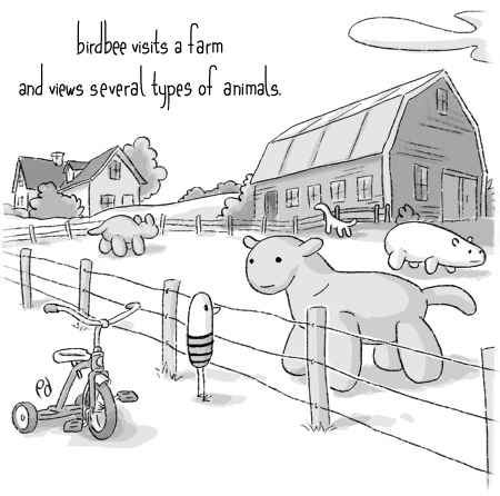 birdbee visits a farm...
