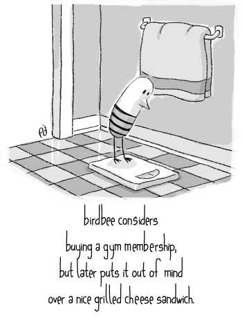 birdbee considers a gym membership...