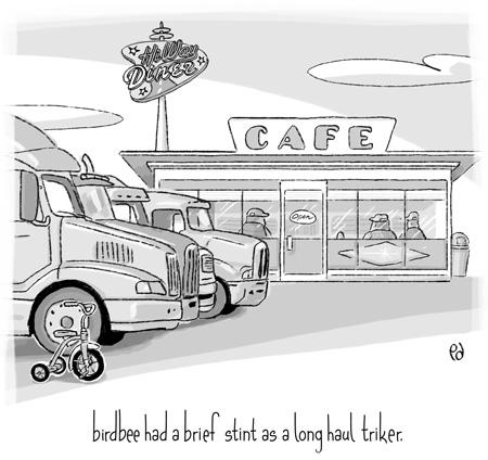 birdbee had a brief stint as a long haul triker.
