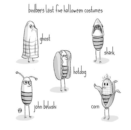 birdbee's last five halloween costumes