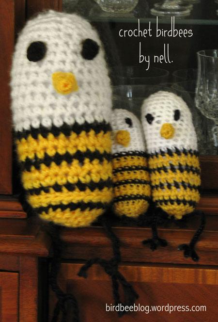 crochet birdbees