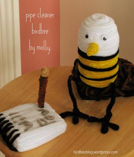 pipe-cleaner birdbee